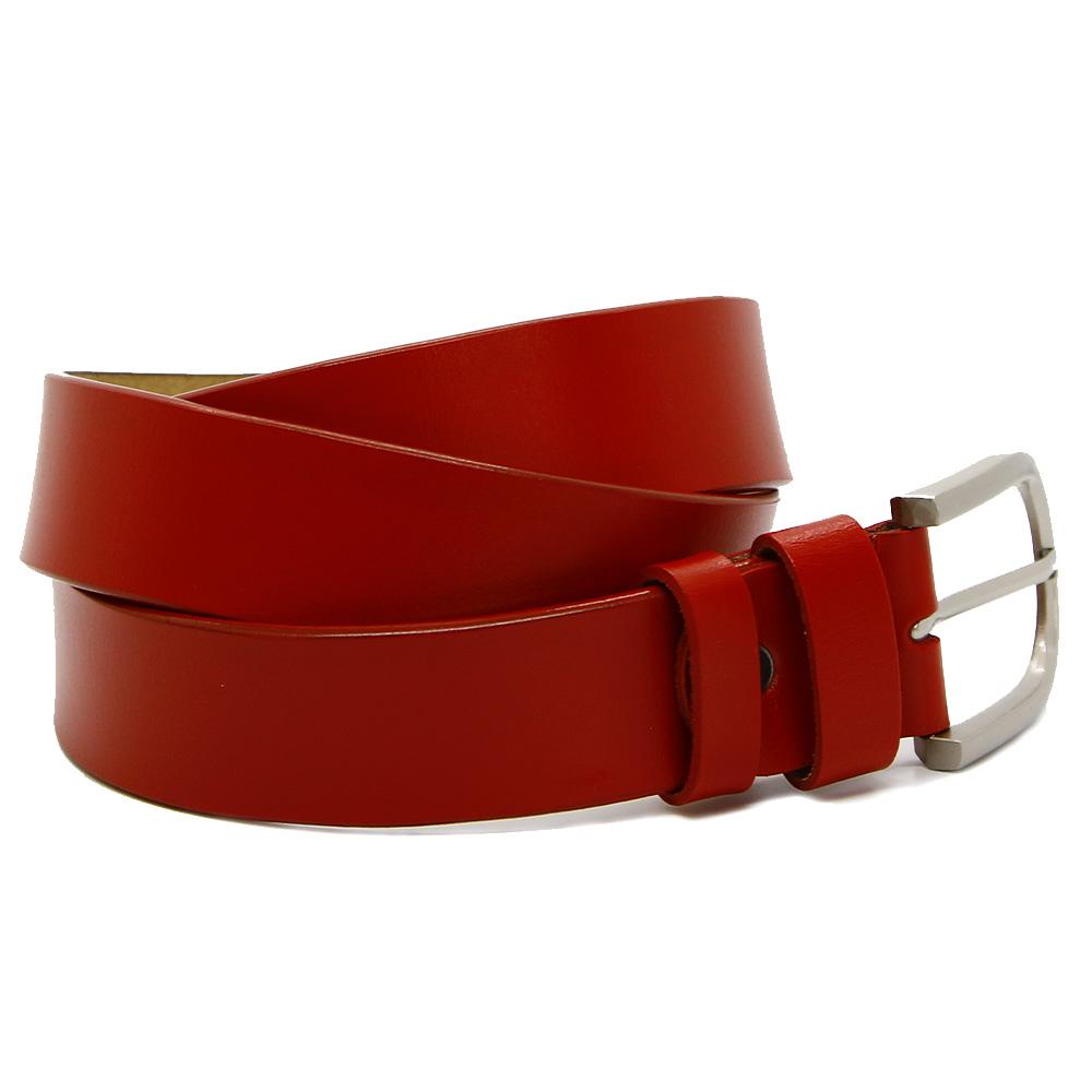 Кожаный ремень 7731 Красный