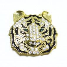 Пряжка женская для ремня тигр 598Z