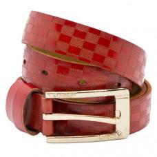 Женский ремень 5523 Кожаный Красный