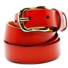 Женский ремень 5580 Кожаный Красный
