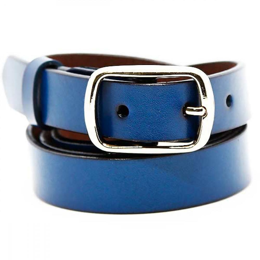 Женский ремень 5604 Кожаный Синий