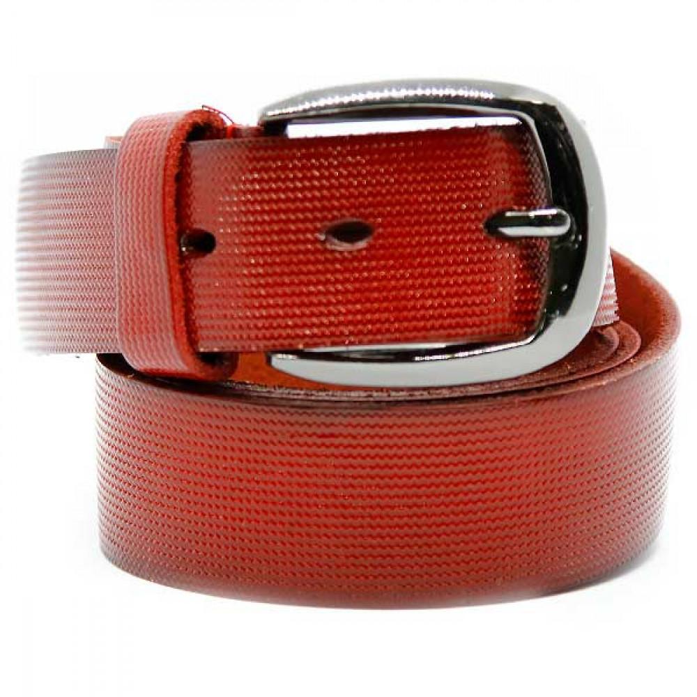 Женский ремень 5638 Кожаный Красный
